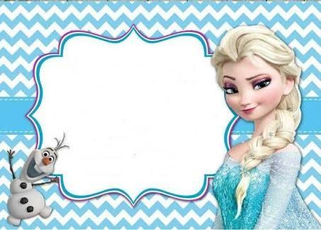 Resultado De Imagen Para Pinterest Convite Frozen Tarjetas