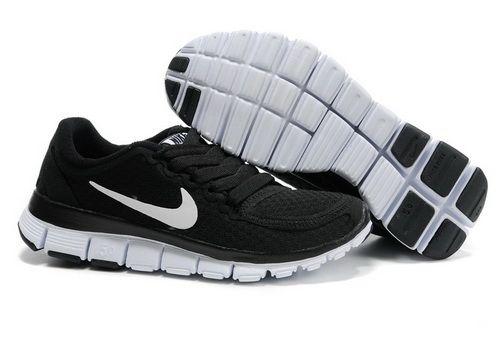 Womens Nike Free 5.0 V4 Black White