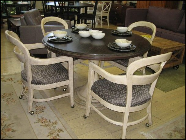 Dining Room Sets With Wheels On Chairs  Wheels  Tires Gallery Alluring Dining Room Chairs On Wheels Inspiration Design