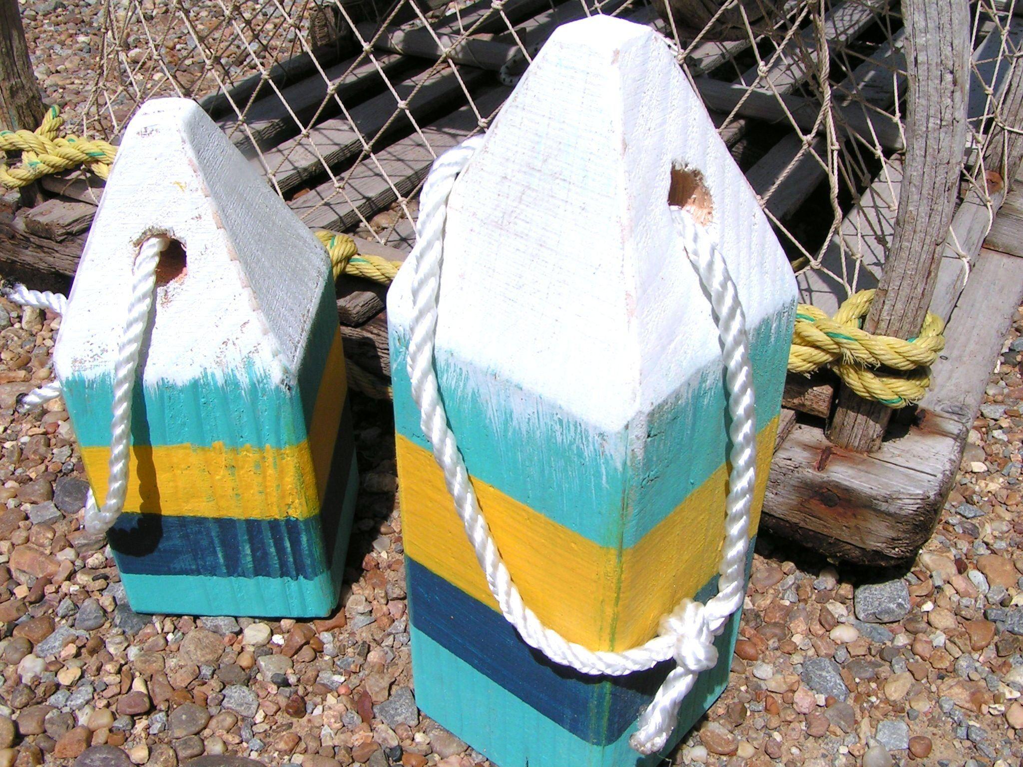 Wood Lobster Buoys Nautical Decor Wooden Decorative Buoys