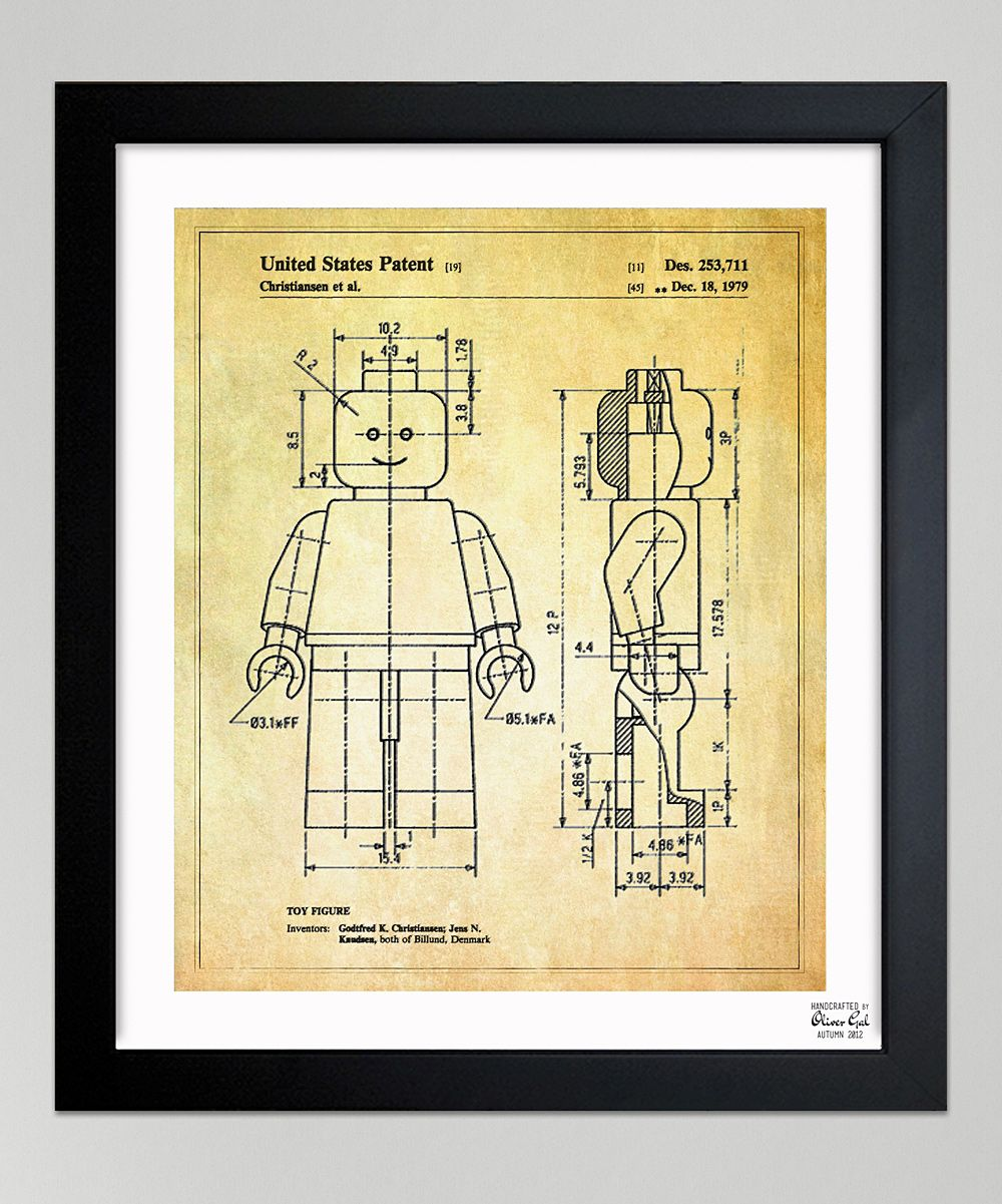 Lego Toy Figure, 1979\' Framed Art Print. Love this for the play room ...