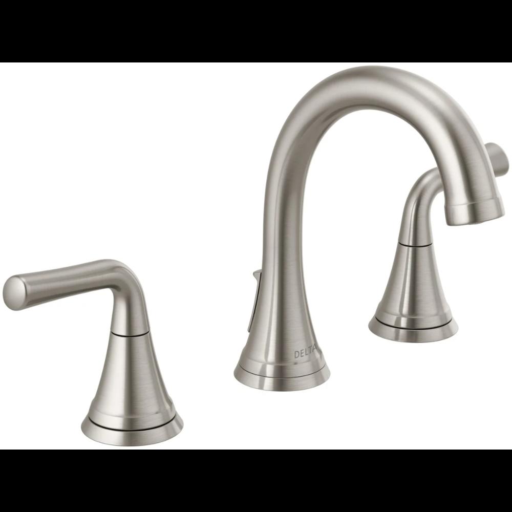 Delta 3533lf Blmpu Matte Black Kayra Widespread Bathroom Faucet Faucetdirect Com Bathroom Faucets Delta Faucets Widespread Bathroom Faucet [ 1000 x 1000 Pixel ]