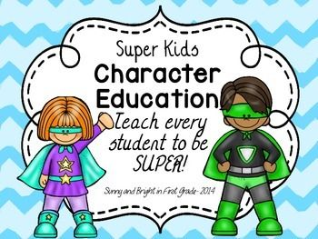 Superhero Theme- Character Education Posters- 40 Traits Included ...