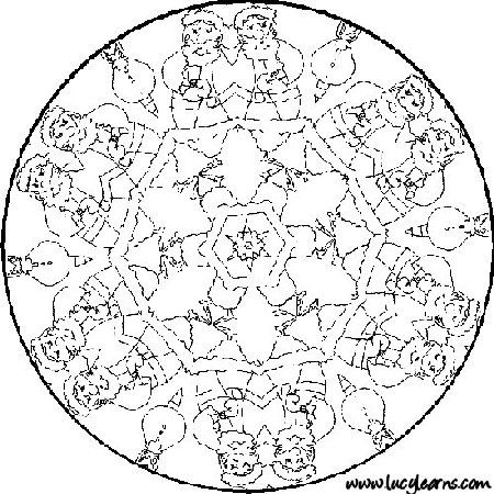 free printable mandala coloring pages christmas theme - Christmas Mandalas Coloring Book