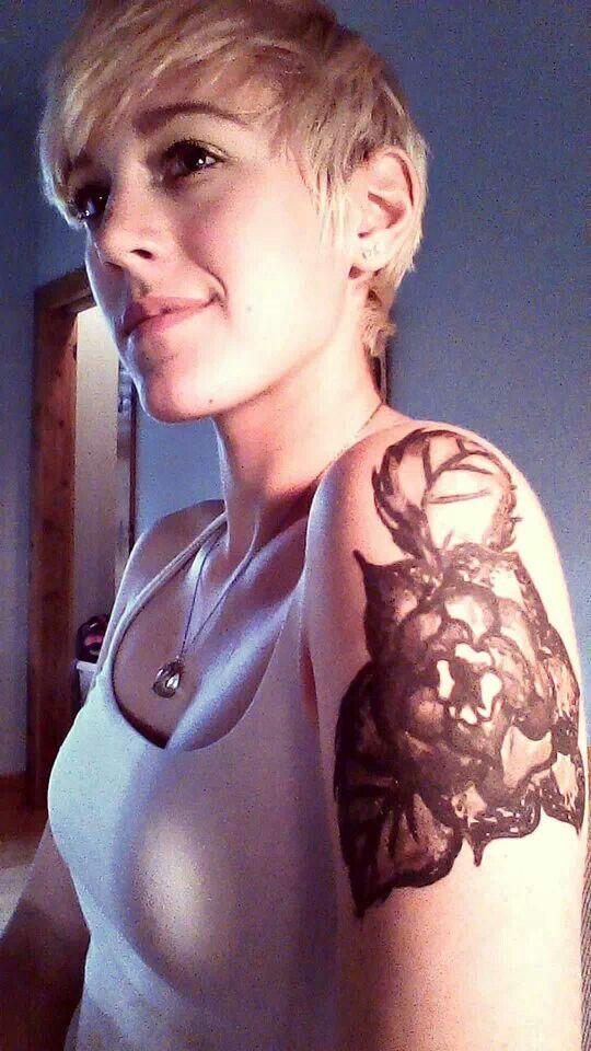 Flower tattoo #blackandwhite #tattoo #flower