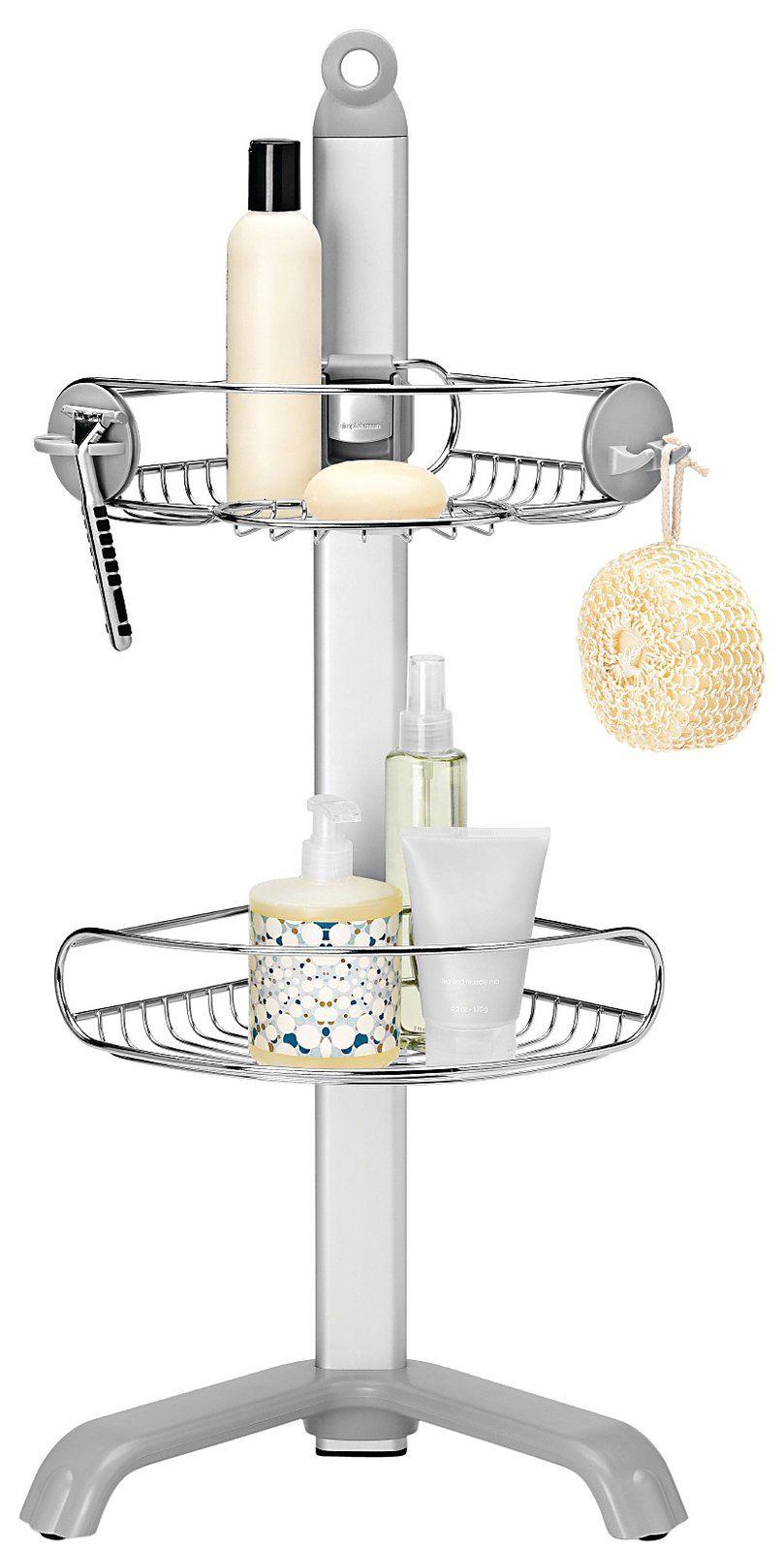 Adjustable Corner Shower Caddy, Stainless Steel - casa.com | Studio ...