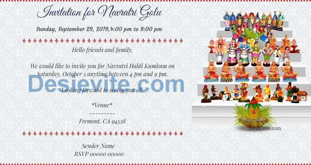 Navratri Golu Festival Of Dolls Invitation Navaratri Golu