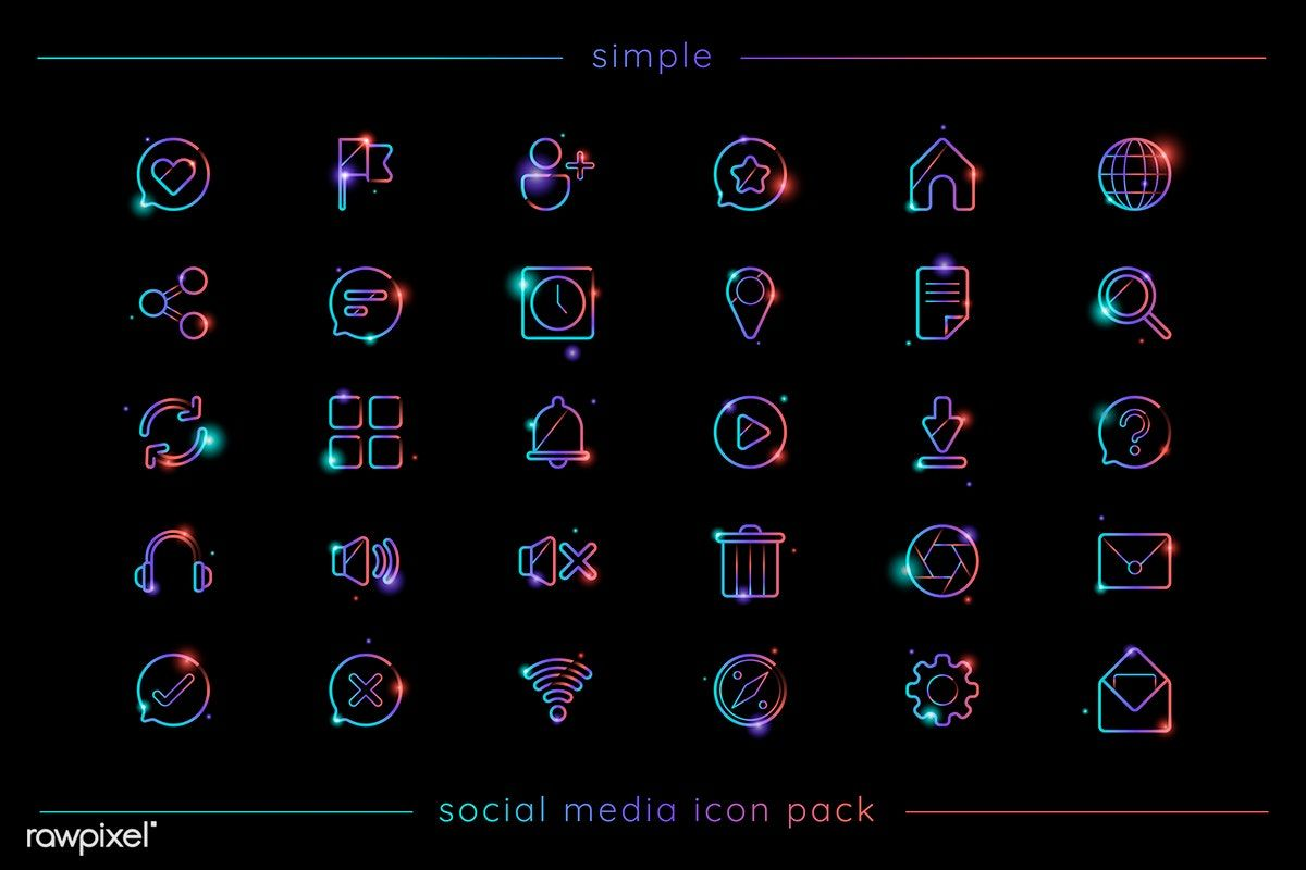 Download Download premium vector of Social media icon pack vector ...