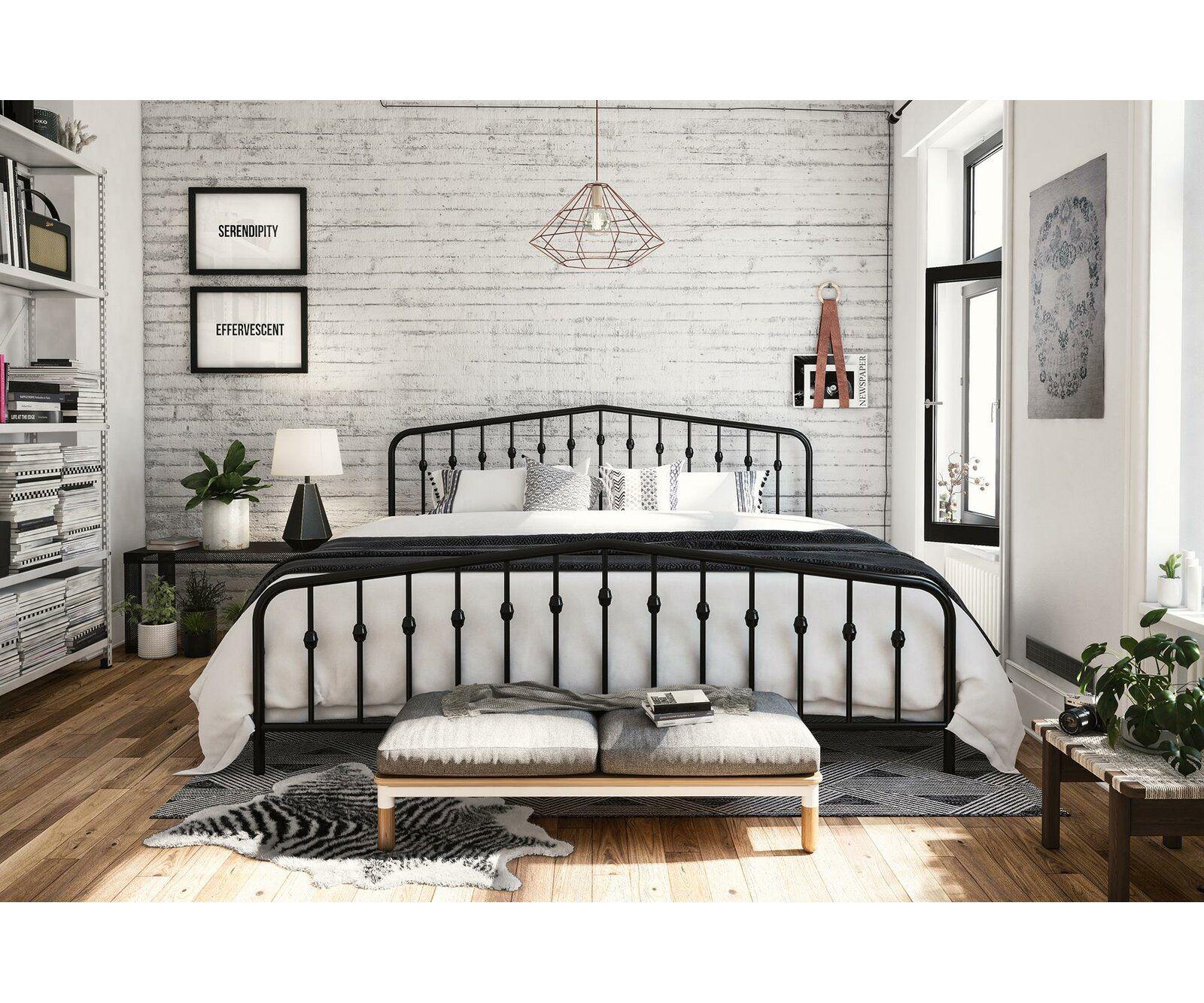 Bushwick Platform Bed Metal platform bed, Metal beds