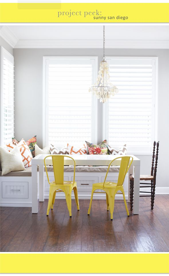 Dining room parsons dining table from west elm yellow for West elm yellow chair