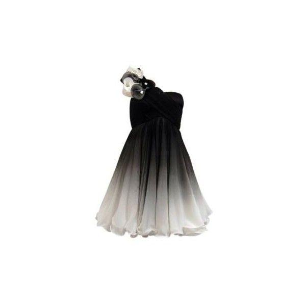 Silver and black ombre dress ($235) ❤ liked on Polyvore featuring dresses, vestidos, vestiti, black, women, women's dresses & skirts, floral dresses, flower printed dress, black silver cocktail dress and flower pattern dress