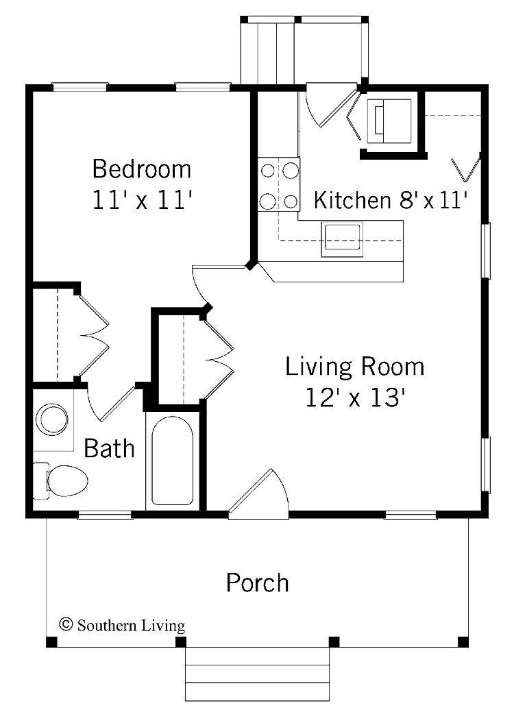 Floor Plan Guest House Plans 1 Bedroom House Plans Small One Bedroom House 1 Bedroom House Plans One Bedroom House Plans