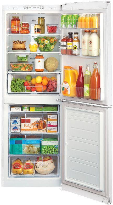 Counter Depth Bottom Freezer Refrigerator With 2 Spillproof Glass Shelves,  1 Humidity Crisper, Multi Air Flow, SmartDiagnosis, Door Alarm And  LoDecibel ...