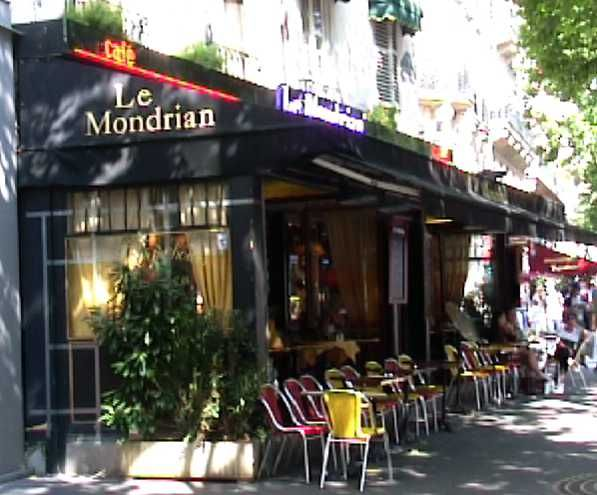 """Le Mondrian Cafe 148 Boulevard St Germain, Paris.  We've been to the famous tourist cafes in Saint-Germain-des-Pres - Les Deux Magot, Lipp, Cafe de Flore.  This one has been """"our neighborhood restaurant"""" in all our trips to Paris.  It has the great sidewalk views of the action on Blvd. Saint-Germain, but also comfortable booths in the brasserie section, soft wood, brass and lace decor; tasty comfort food.  I love the tarte citron!"""