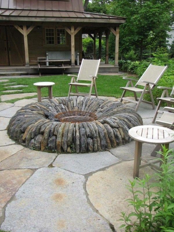 Schöne Gartenideen Feuerstelle Selber Bauen