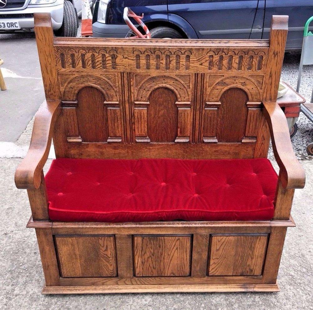 Outstanding Solid Oak Monks Bench Storage Pew Medium Oak Adam Andrewgaddart Wooden Chair Designs For Living Room Andrewgaddartcom