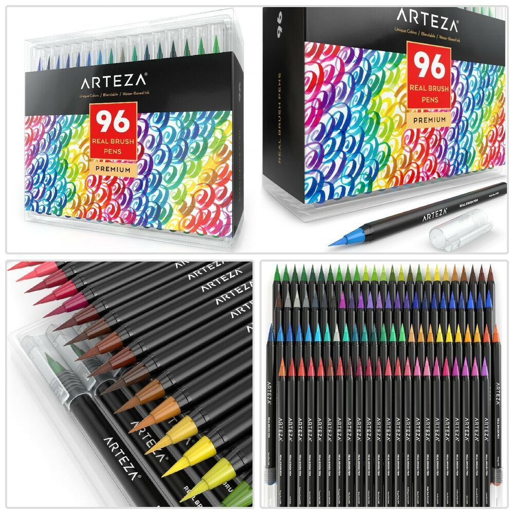 Details About Arteza Real Brush Pens 96 Colors Watercolor