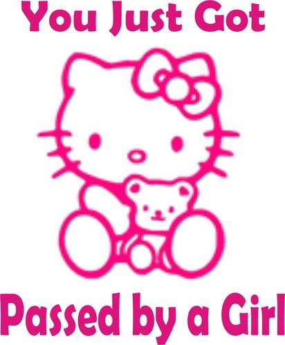 Hello Kitty Girls Funny Decal Car Sticker Funny Decals Car - Hello kitty car decal stickers