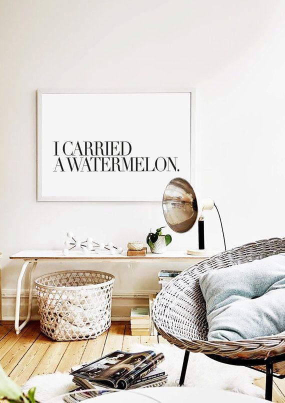 Mode Typografie Kunst Durchgeführt A Watermelon Von Lovecultstudio