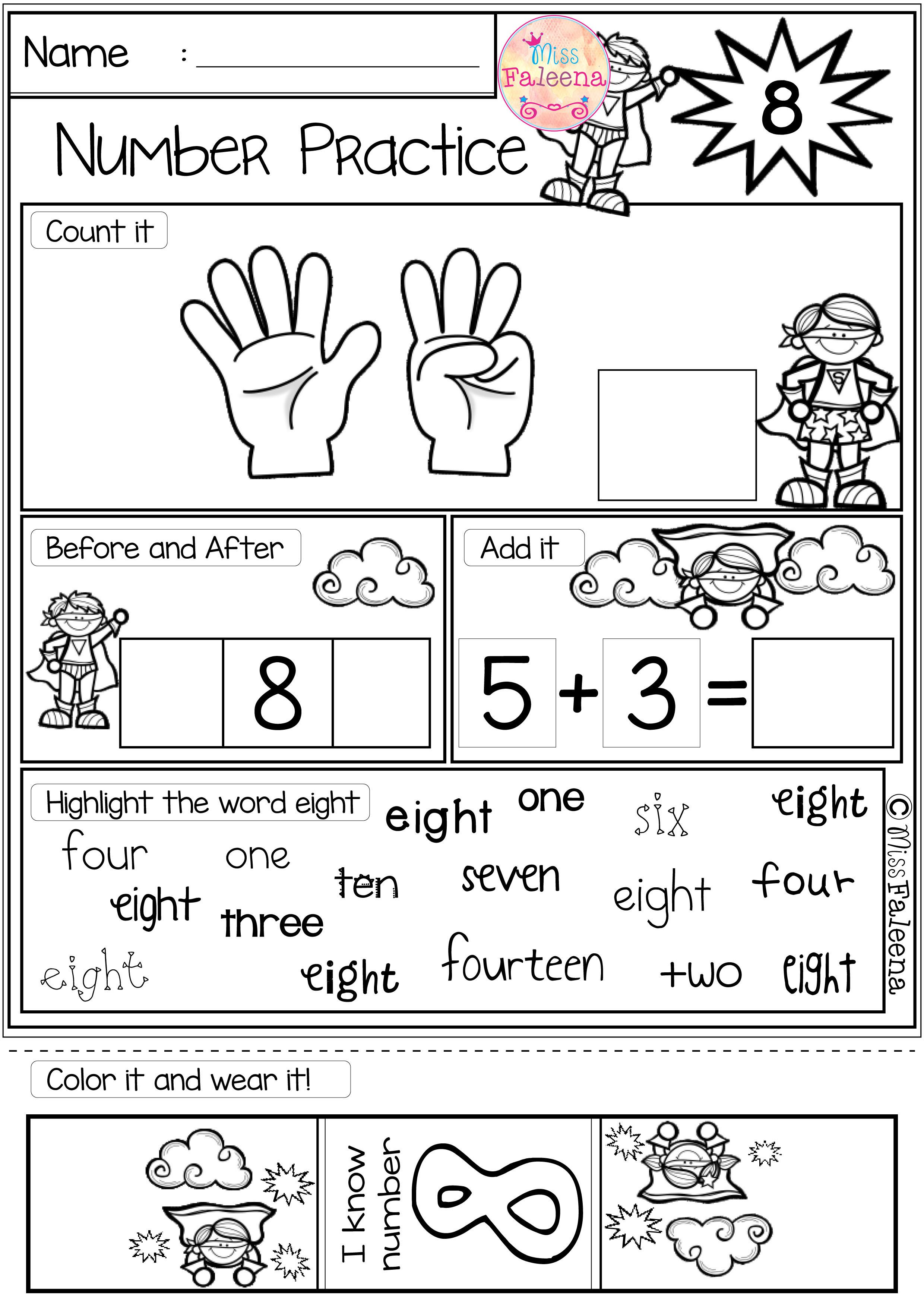 There Are 20 Pages 1 20 Number Practice Worksheets In This Product Also Inclu Kindergarten Math Worksheets Numbers Kindergarten Number Worksheets Kindergarten [ 3507 x 2480 Pixel ]