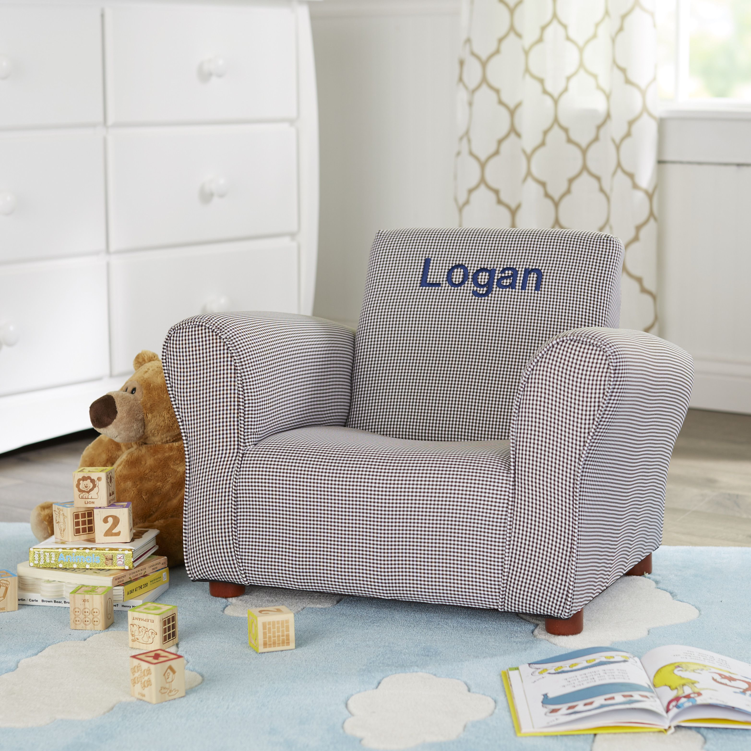 Little Furniture Personalized Kids Club Chair Upholstered Kids Chair Club Chairs Kids Sofa