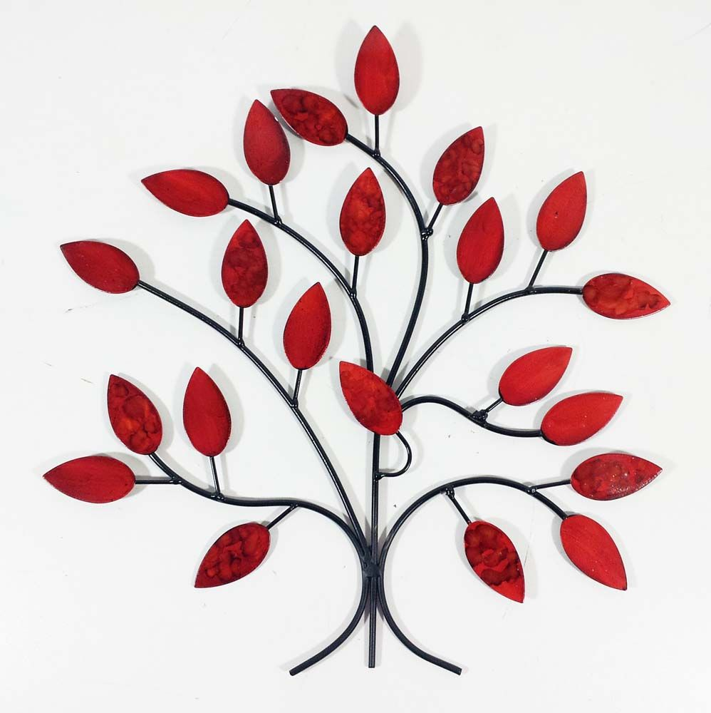 Wall Art Red metal wall art - fire summer tree branch | our art! | pinterest