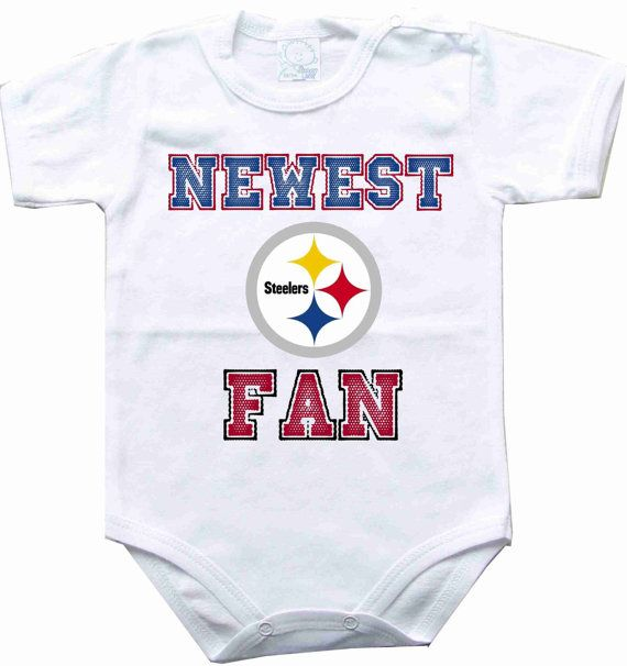 Hey, I found this really awesome Etsy listing at https://www.etsy.com/listing/208992860/baby-bodysuit-newest-fan-pittsburgh