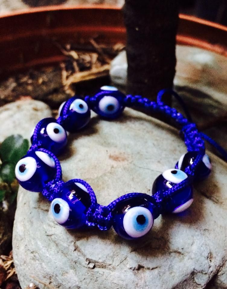 Pulsera ojo turco color azul