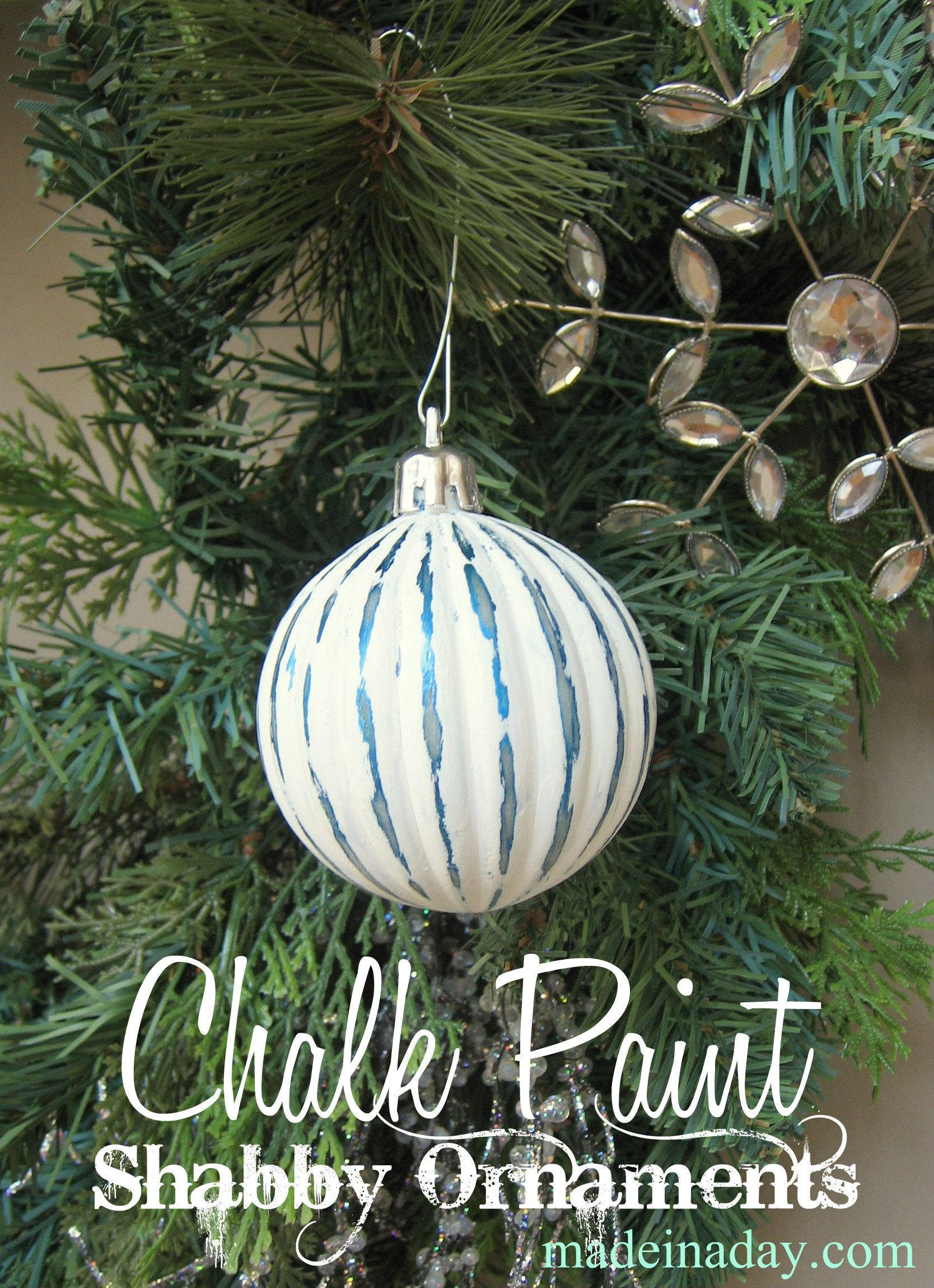 Shabby Chalk Paint Ornaments Painted Ornaments How To Make Ornaments Ornaments