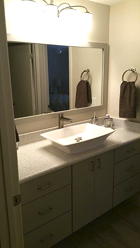 A Bathroom Remodel We Did In A St Pete Beach Condo These Sinks
