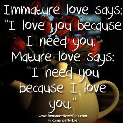difference between mature and immature love