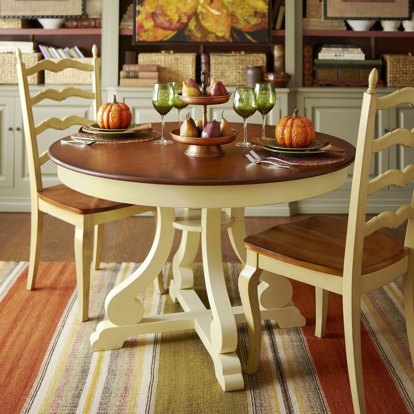 marchella round dining table antique ivory pier 1 imports