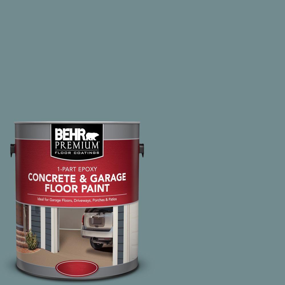 Behr Premium 1 Gal Pfc 53 Leisure Time 1 Part Epoxy Satin Interior Exterior Concrete And Garage Floor Paint 93001 Garage Floor Paint Exterior Paint Painted Floors