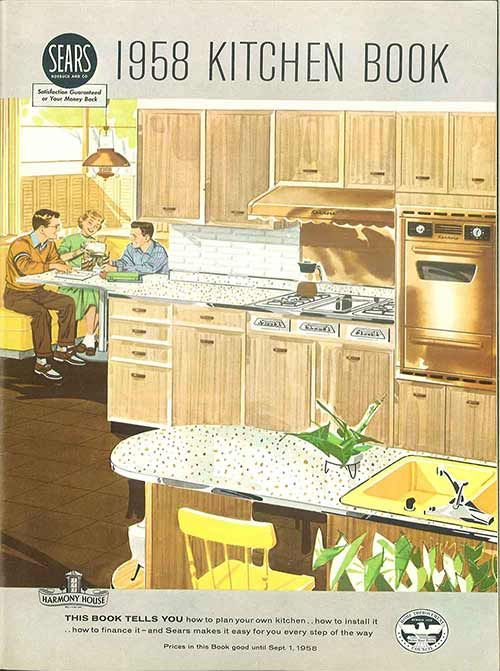 1958 Sears kitchen cabinets and more - 32 page catalog | Book covers ...