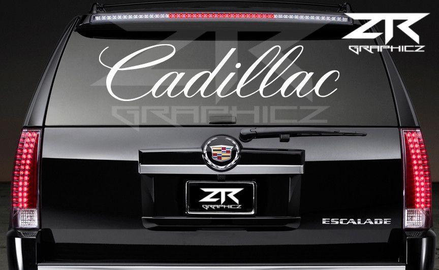 Cadillac Rear Window Decal Rear Window Decals And Products - Chevy rear window decals trucksharleydavidson rear window graphic decal lightning