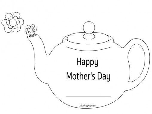 mothers-day-teapot-card | Moldes e riscos | Pinterest