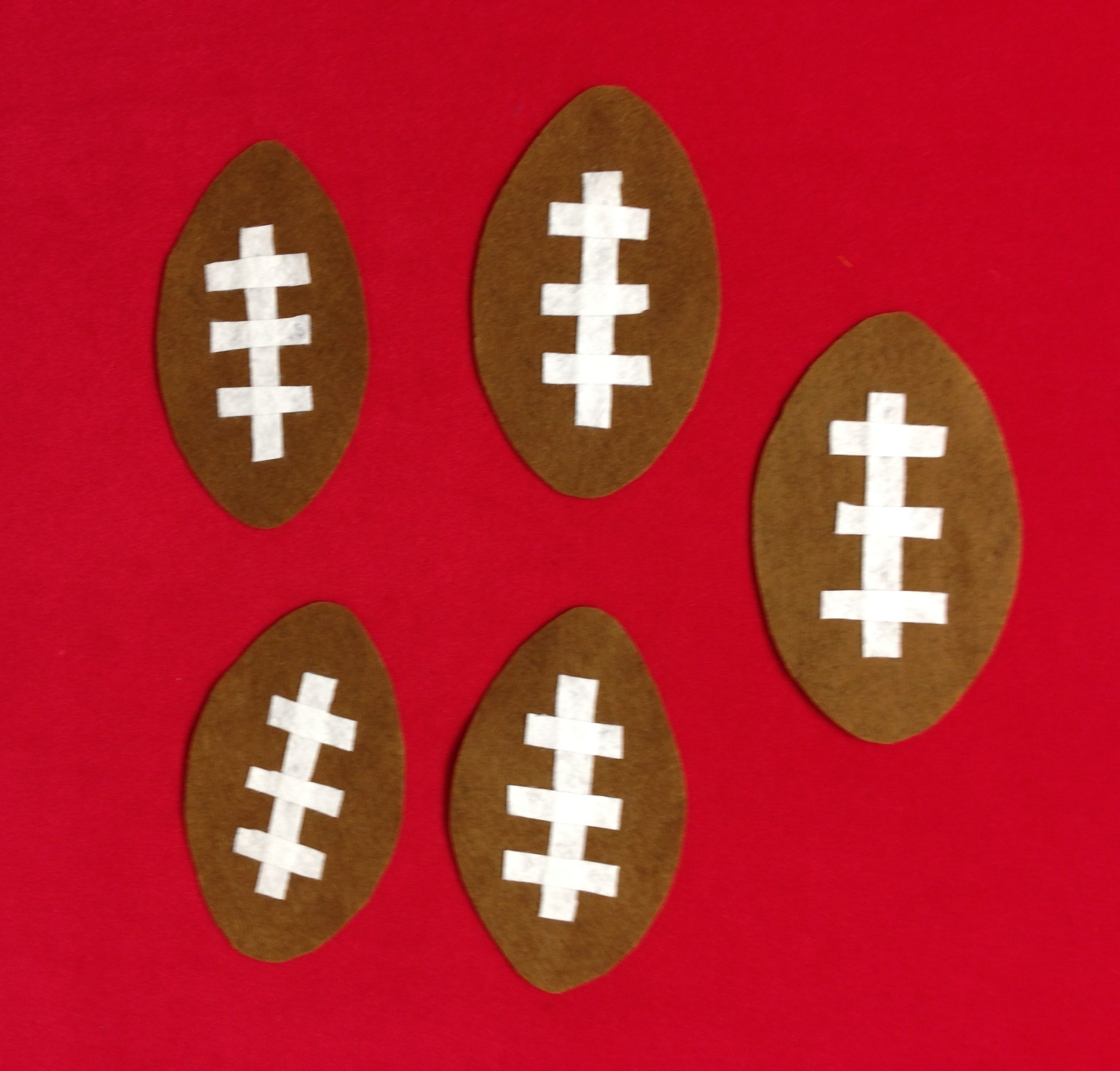 Flannel Rhyme Five Little Footballs To Go With A Football
