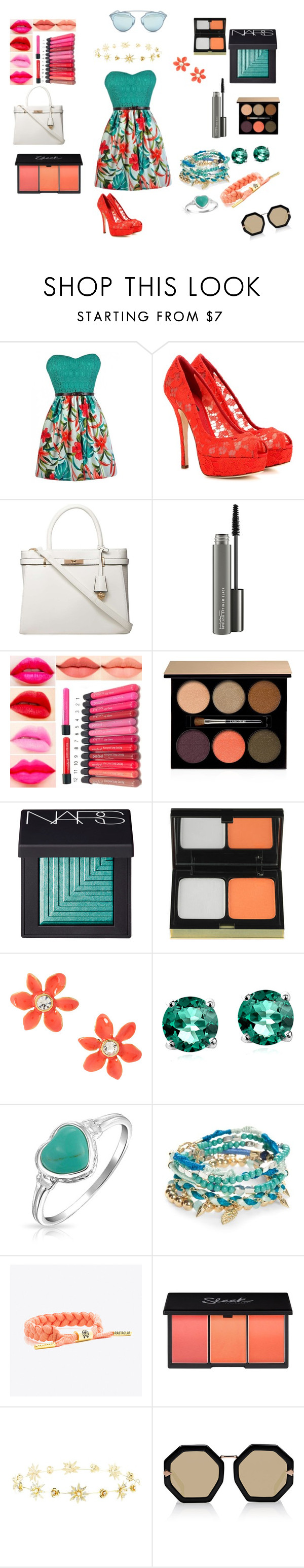 """All dressed up"" by dadacollins on Polyvore featuring Dolce&Gabbana, Dorothy Perkins, MAC Cosmetics, Lancôme, NARS Cosmetics, Kevyn Aucoin, Kate Spade, Glitzy Rocks, Bling Jewelry and Red Camel"