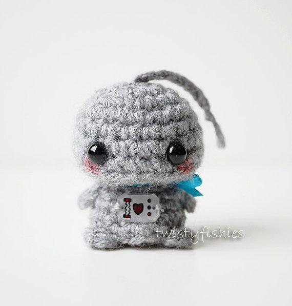 Mini Gray Robot - Kawaii Amigurumi Plush | amigurumi/crotchet ...