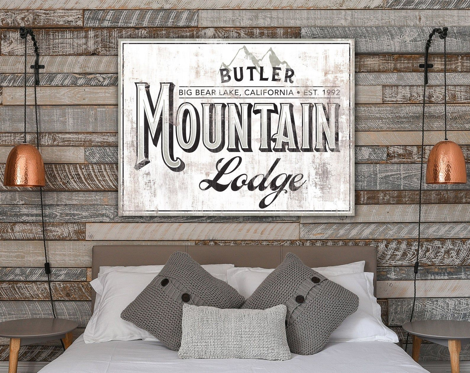 Ski Lodge Decor Family Sign Log Cabin Wall Decor Rustic Etsy Cabin Wall Decor Ski Lodge Decor Lodge Decor