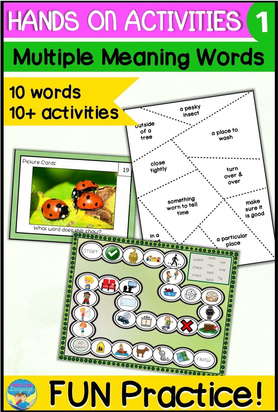 Homonyms Activities In