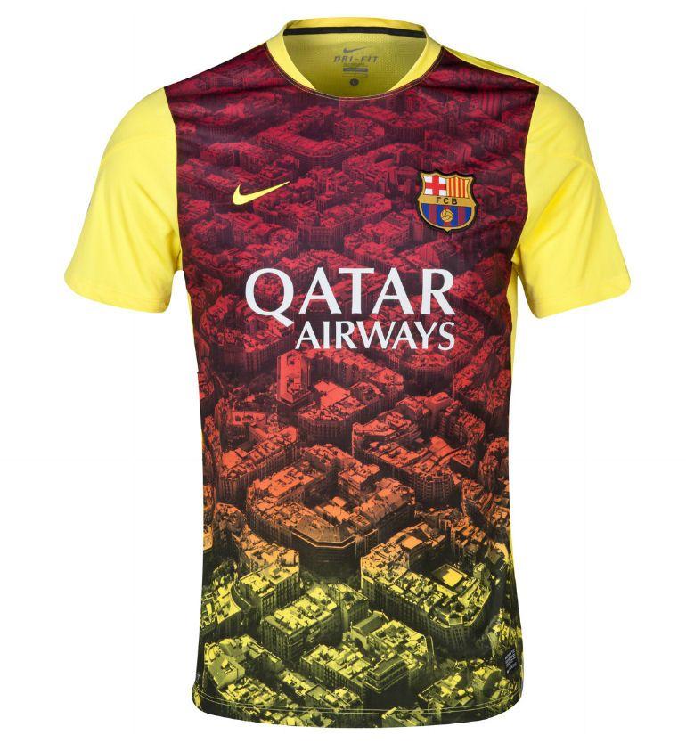 a0b3c8874 2013-14 Barcelona Nike Pre-Match Training Jersey