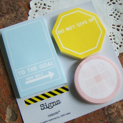 Do not give up the goal signs. Sticky Note Set. Personal time planner stickers #filofax love | MochiThings