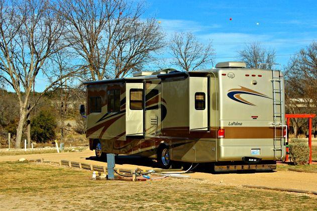 North Llano River RV Park, Junction, Texas © Rex Vogel ...