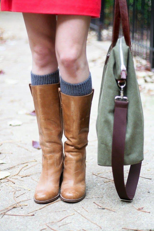 socks + riding boots