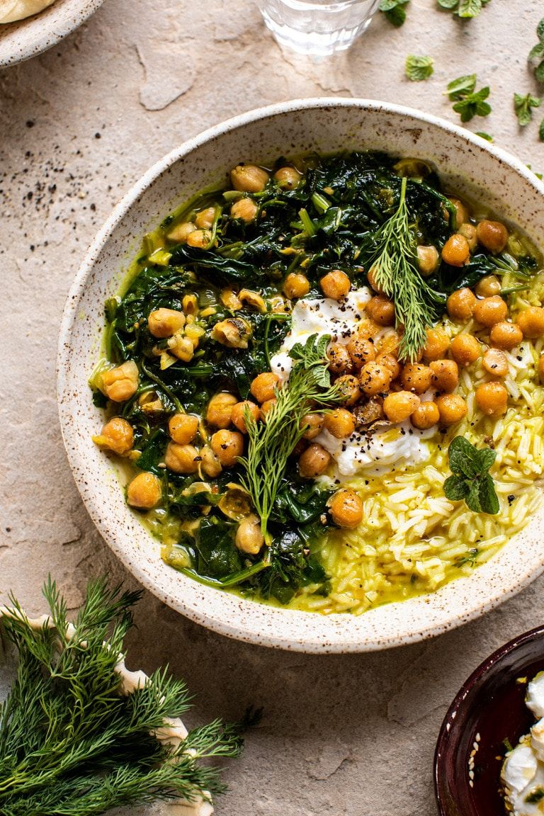 Persian Herb And Chickpea Stew With Rice Recipe Food Healthy