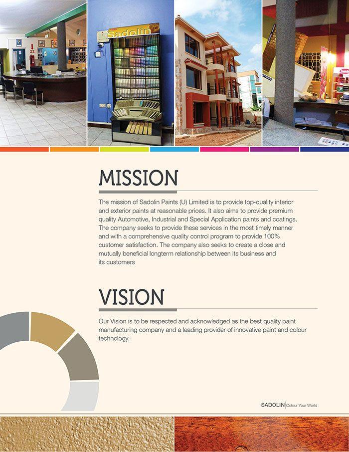 Sadolin Company Profile Concept Two Company Brochure Design Company Profile Company Brochure