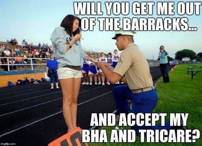 BAH and Tricare.