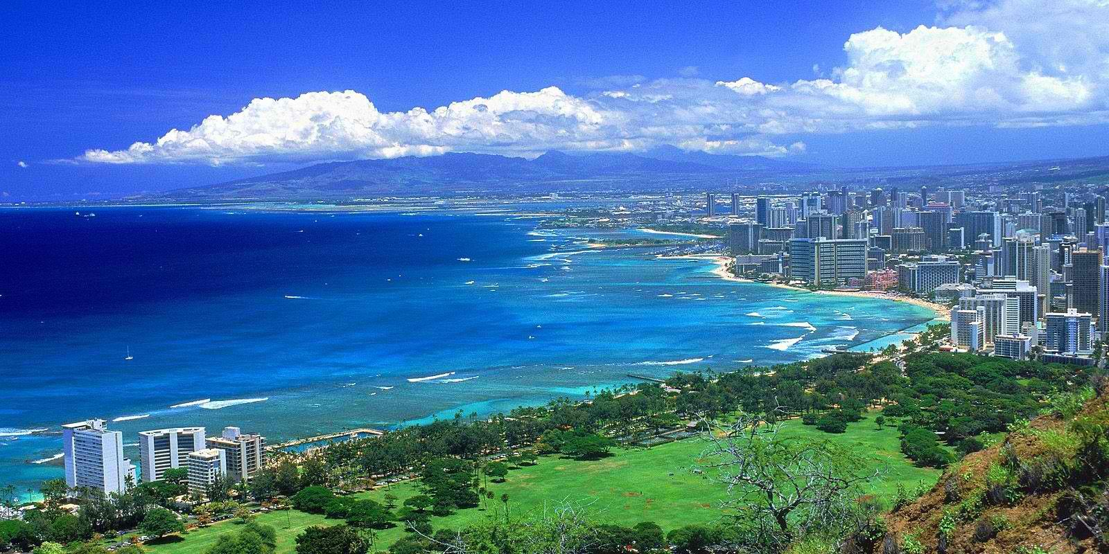 View From Diamond Head Oahu Hawaii Great Hike Best Places To Travel Hawaii Pictures Hawaii Family Vacation