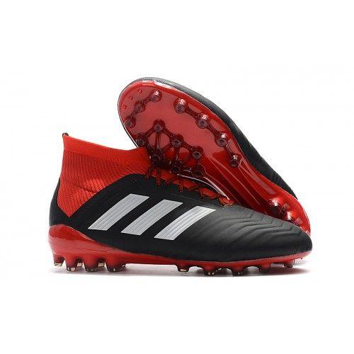 outlet store daa46 a5f5d Negro Rojo 2018 Baratas Botas de fútbol Adidas Predator 18.1 AG Nuevos Hombre  En Venta